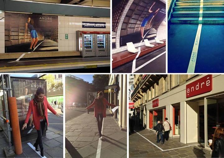 Campagne street marketing « Flirtez avec la ligne »