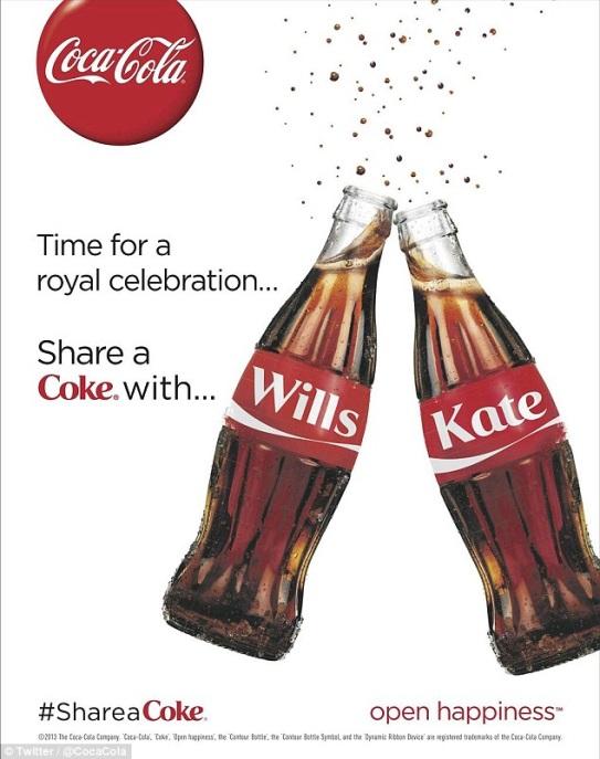Coca-cola célèbre le mariage de Will et Kate