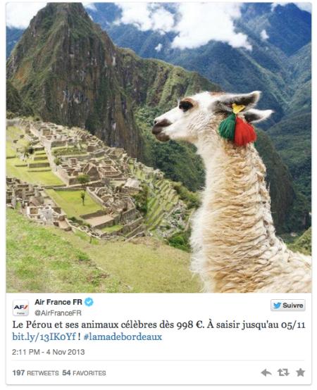 Air France s'empare du buzz de Serge Le Lama