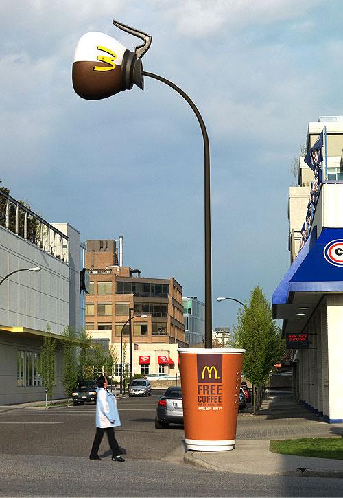 Le lampadaire Mc café