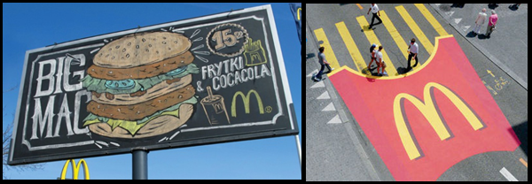 Street Marketing mcdo