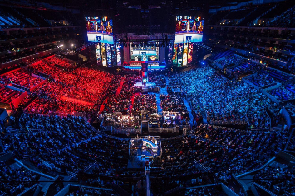 Compétition internationale de League of Legends qui a regroupé 45 000 spectateurs à Séoul, 2014